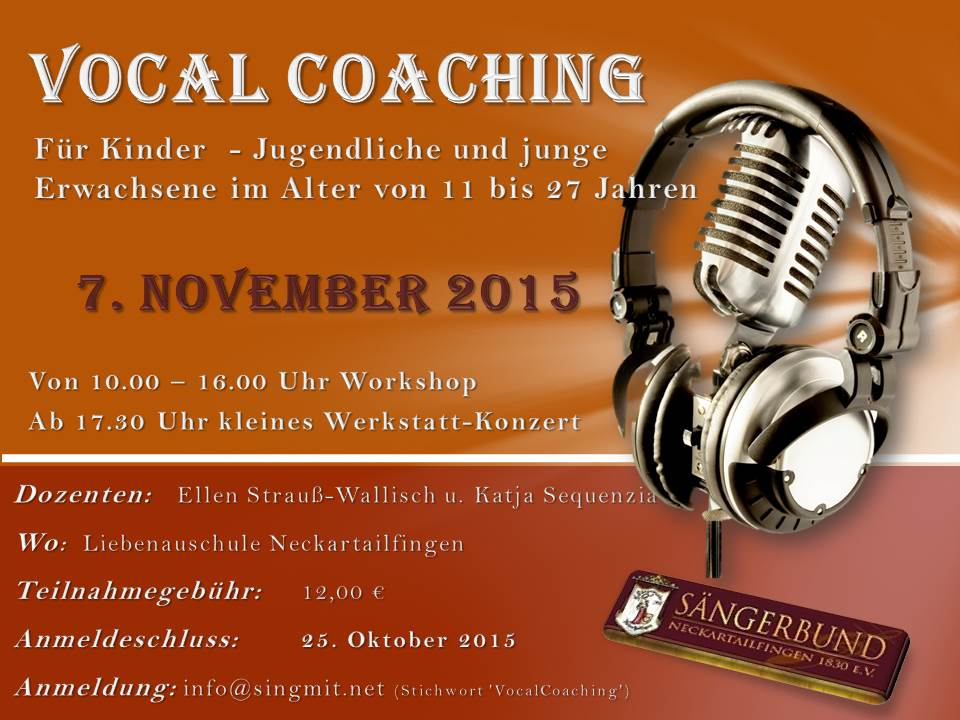 VocalCoaching Flyer