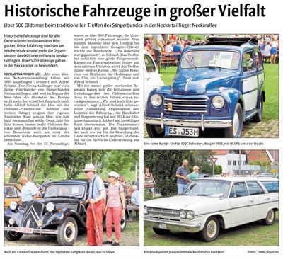 Bericht der Nürtinger Zeitung vom 18. Juli 2017